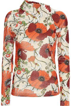 DODO BAR OR Top de terciopelo floral