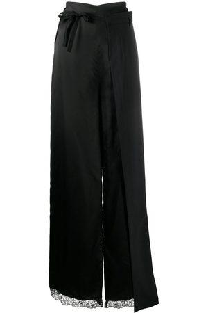 MM6 MAISON MARGIELA Falda larga con capa de encaje