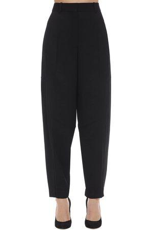 "Victoria Beckham | Mujer Pantalones ""fluid"" Con Cintura Alta 6"