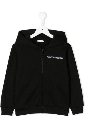 Dolce & Gabbana Sudaderas - Sudadera con capucha y logo bordado