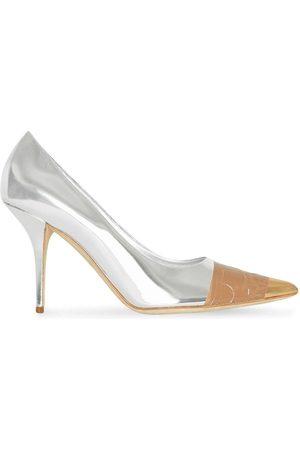 Burberry Zapatos de tacón con diseño espejado y detalle de cinta