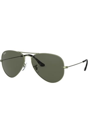Ray-Ban RB3025 Aviator Large Metal 919131 Sand Trasparent Green