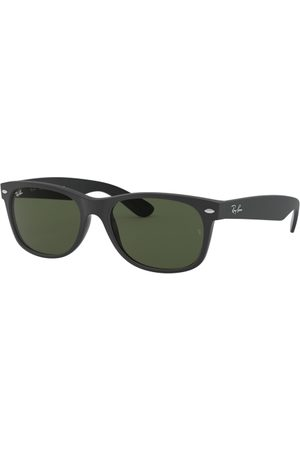 Ray-Ban RB2132 NEW Wayfarer 646231 TOP Rubber Black ON Shiny BLK