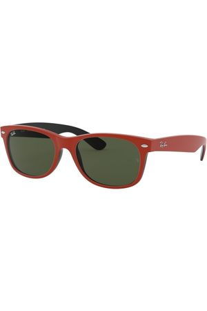 Ray-Ban RB2132 NEW Wayfarer 646631 TOP Rubber RED ON Shiny Black