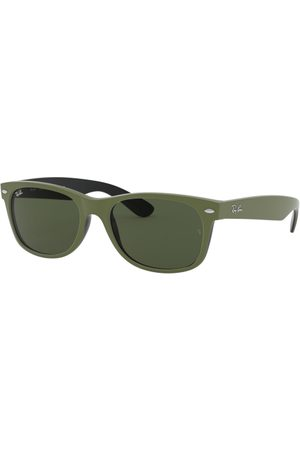 Ray-Ban RB2132 NEW Wayfarer 646531 TOP Rubber Military Green ON B