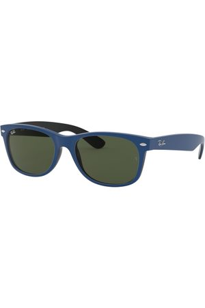 Ray-Ban RB2132 NEW Wayfarer 646331 TOP Rubber Blue ON Shiny Black