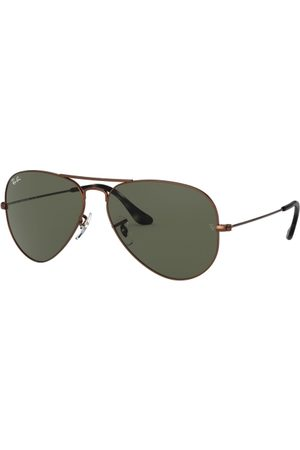 Ray-Ban RB3025 Aviator Large Metal 918931 Sand Trasparent Brown