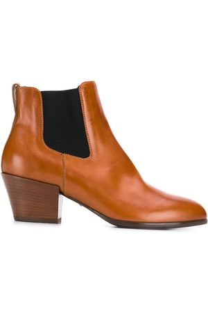 Hogan Contrast panel ankle boots