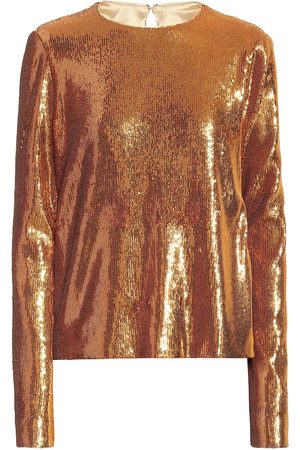 GALVAN Top Gilded Clara de lentejuelas