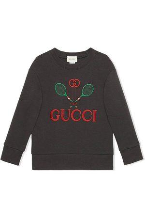 Gucci Sudadera con logo bordado