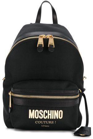 Moschino Mochila con placa del logo