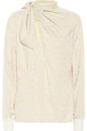 Chloé Blusa de seda estampada