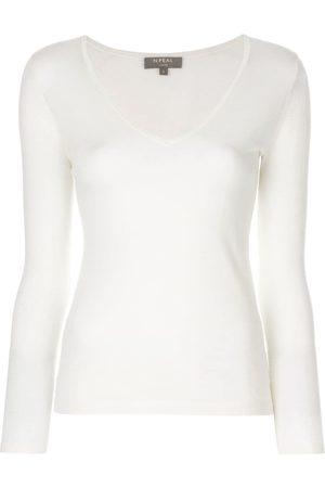 N.PEAL Jersey de punto superfino con cuello en V