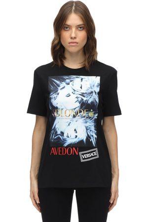 VERSACE | Mujer Camiseta De Algodón Estampada Y Bordada Xs