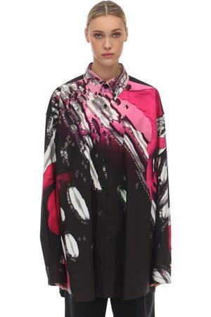 Maison Margiela | Mujer Camisa Oversize De Popelina De Algodón Estampada 38