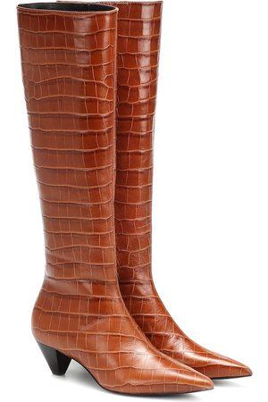 Mercedes Castillo Botas Donique de piel efecto coco