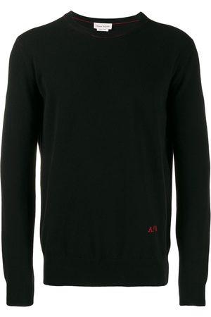 Alexander McQueen Jersey con logo bordado y cuello redondo