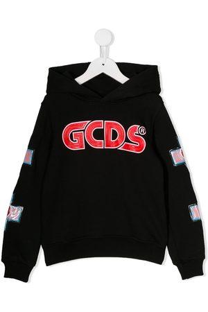 Gcds Kids Cross embellished hoodie