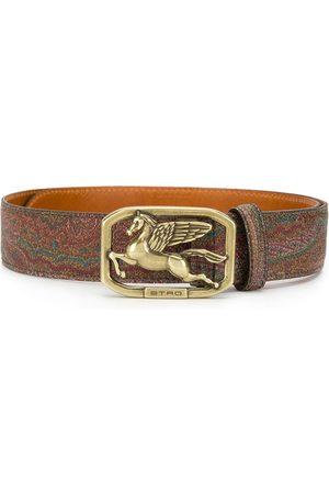 Etro Mujer Cinturones - Cinturón estampado con hebilla del logo