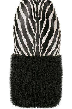 Saint Laurent Mujer Estampadas - Falda con estampado de cebra