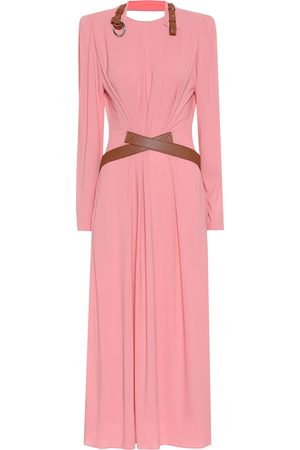 Stella McCartney Mujer Midi - Vestido largo con piel sintética