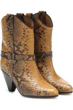 Isabel Marant Botas cowboy Dean efecto serpiente