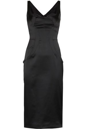 Dolce & Gabbana Fitted satin pencil dress