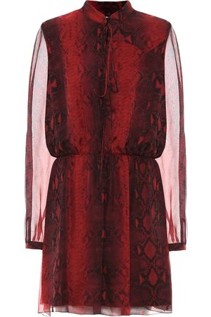 AMIRI Vestido corto de seda estampado