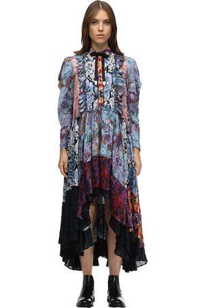 COACH | Mujer Vestido Con Estampado Patchwork Chifón Y Viscosa 0