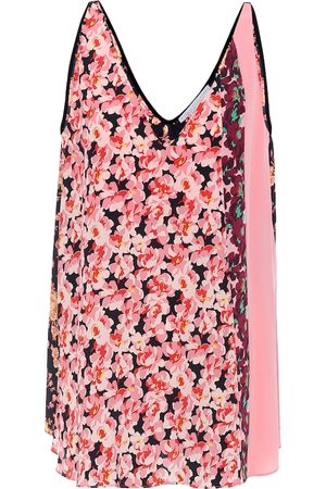 Stella McCartney Top de seda floral