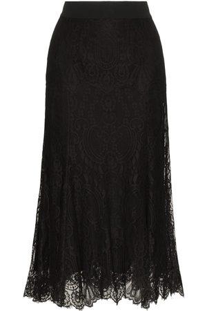 Dolce & Gabbana Falda midi de encaje