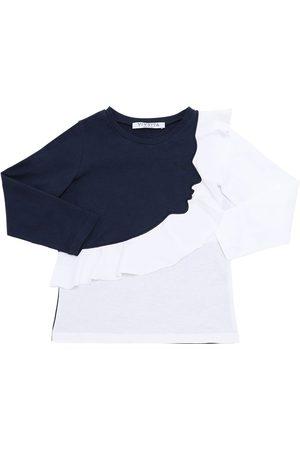 VIVETTA | Niña Camiseta De Algodón Jersey Con Manga Larga /blanco 8a
