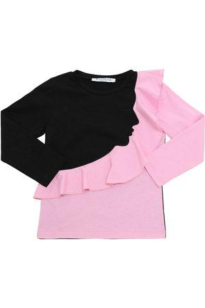 VIVETTA | Niña Camiseta De Algodón Jersey Con Manga Larga /rosa 10a