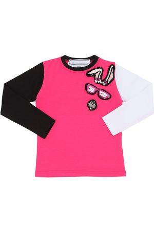 MICHAELA BUERGER   Niña Camiseta De Algodón Jersey Con Parche De Punto 9/11a