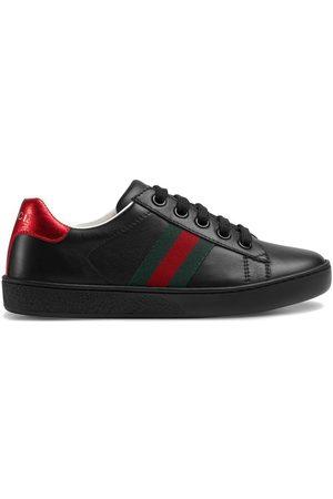 Gucci Zapatillas bajas de piel con tribanda