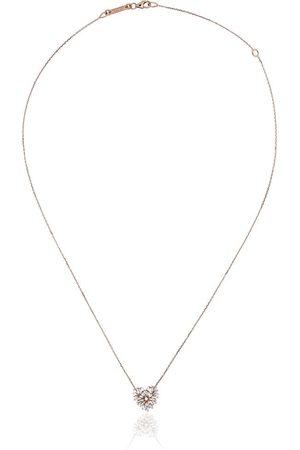 Suzanne Kalan Collar con corazón de diamantes en oro rosa de 18kt