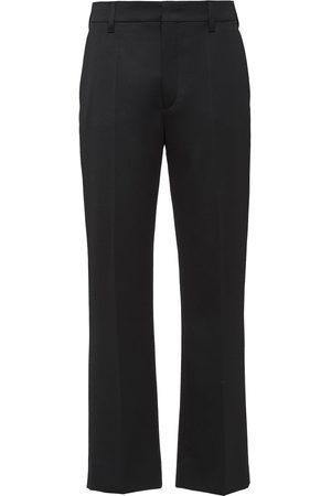 Prada Sateen tailored cropped trousers