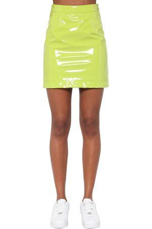 Kirin | Mujer Mini Falda De Vinilo Con Cintura Alta 38