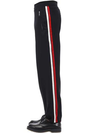 Neil Barrett | Hombre Pantalones Jogging De Tech Con Bandas De Satén /rojo/blanco Xs