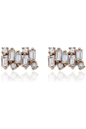 Suzanne Kalan Pendientes Firework con diamantes en oro rosa de 18kt