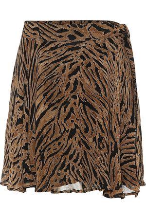 Ganni Minifalda de georgette estampada