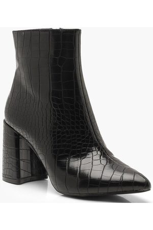 Boohoo Zapatos estilo botines con tacón ancho