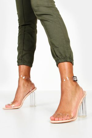 Boohoo Zapatos de tacón extragrande de 2 piezas con pieza transparente