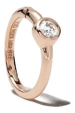 White Bird Aro Justine en oro rosa de 18kt con diamantes