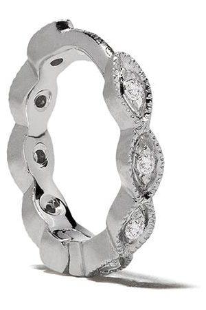 White Bird Aro Maurine en oro blanco de 18kt con diamantes