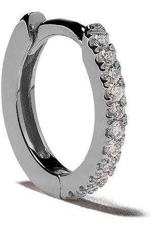 White Bird Aro Margot mediano en oro blanco de 18kt con diamantes