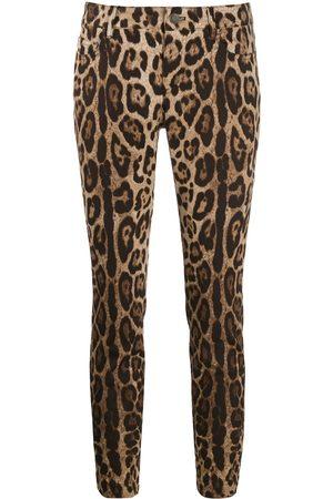 Dolce & Gabbana Vaqueros capri con estampado de leopardo