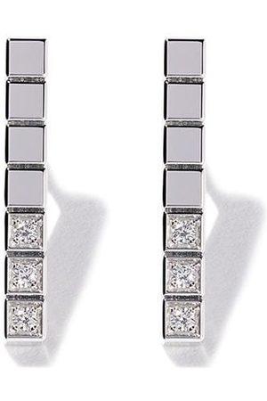 Chopard Mujer Pendientes - Pendientes con diamantes Ice Cube Pure en oro blanco de 18kt