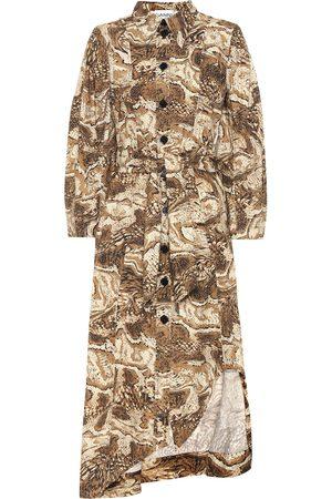 Ganni Vestido de popelín de algodón