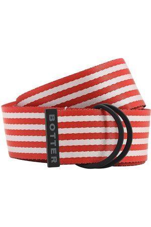 Botter   Hombre Cinturón De Nylon A Rayas 40mm /rojo Unique